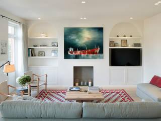 BIDDULPH MANSIONS, MAIDA VALE Ardesia Design Ruang Keluarga Modern Multicolored
