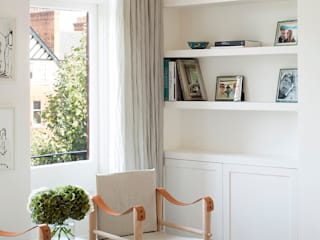 BIDDULPH MANSIONS, MAIDA VALE Ardesia Design Ruang Keluarga Modern White