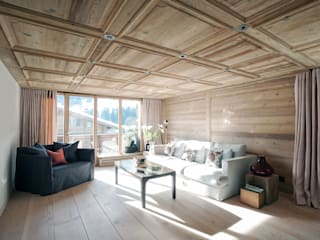 GSTAAD, SWITZERLAND:  Living room by Ardesia Design,