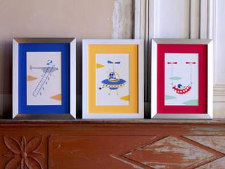 """""""Pilot Your Life"""" / sérigraphies / Screen Prints Joanna Wiejak ArtPhotos et illustrations Papier Multicolore"""