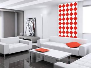Tapeta w romby: styl , w kategorii Ściany zaprojektowany przez Dekoori