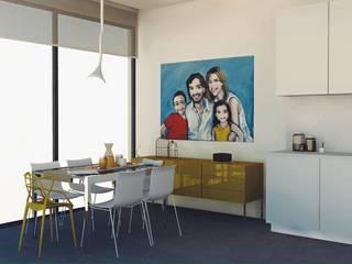 ห้องครัว โดย Santiago   Interior Design Studio , ผสมผสาน