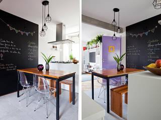 Apartamento da Cláudia e do Daniel: Cozinhas  por INÁ Arquitetura,Eclético