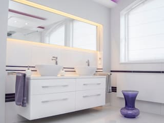 Ванная комната в стиле минимализм от HOLADOM Ewa Korolczuk Studio Architektury i Wnętrz Минимализм