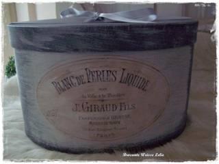 Ovale Vintage Schachtel Gross von Brocante Weisse Lelie e.K. Landhaus