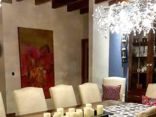 InteriorEs Silvana McColgan Mediterranean style dining room Blue