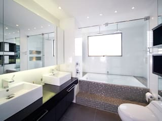 Mako laboratorio Modern Bathroom Wood Wood effect