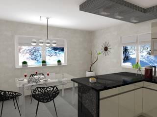 Moderne Küchen von Wizja Wnętrza - projekty i aranżacje Modern