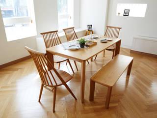 고운(W) 원목 와이드 4인 식탁세트(의자/벤치): 레트로하우스의