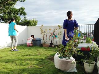 緑化した屋上: 株式会社TERRAデザインが手掛けた庭です。,オリジナル 鉄筋コンクリート