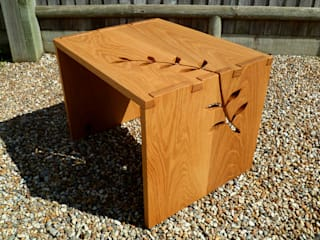 Leaf Wrap Side Table in Oak:   by Hannah Dowding Furniture