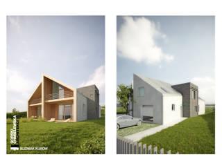 BLIŹNIAK KURÓW Nowoczesne domy od GÓRSKI CHMIELEWSKA ARCHITEKCI Nowoczesny