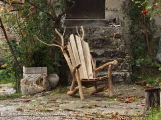 Fauteuil vieux châtaignier... par O Création Bois Scandinave