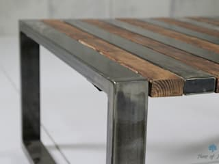 Couchtisch / coffee table: industriell  von Trees of India,Industrial