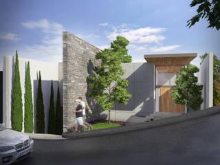 Lozano Arquitectos Maisons modernes Béton Effet bois