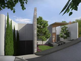 Lozano Arquitectos Maisons modernes Pierre Effet bois