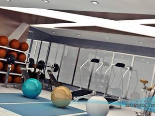 Modern Gym by EN+SA MİMARİ TASARIM DEKORASYON MOB.İNŞ.SAN. VE TİC .LTD. ŞTİ Modern