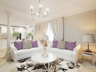 Salas de estilo clásico de Студия авторского дизайна ASHE Home Clásico