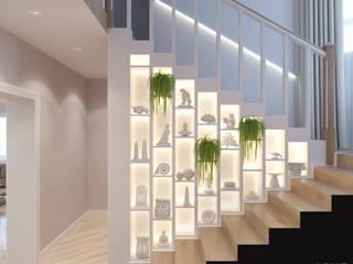 Couloir, entrée, escaliers originaux par Студия авторского дизайна ASHE Home Éclectique