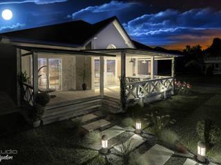 Balkon, Beranda & Teras Modern Oleh D2 Studio Modern