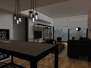 Trua arqruitectura Salones de estilo moderno