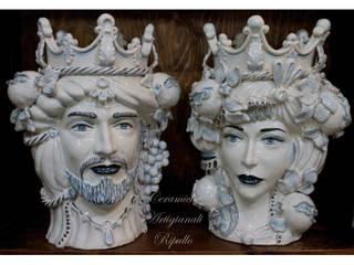 Teste di Moro di Ceramiche Artigianali Ripullo Mediterraneo