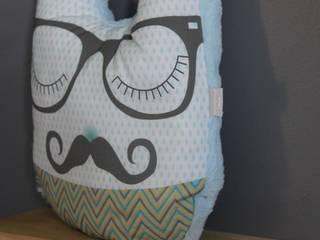 Coussin Monsieur Moustache mimipouapoua Chambre d'enfantsAccessoires & décorations Coton Bleu