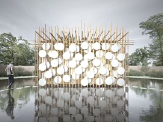 "Bamboo Spirit. Concurso internacional World Bamboo Design Competition 2014 Projecto Finalista na categoria ""Architecture"" Dezembro 2014 por João Araújo Sousa & Joana Correia Silva Arquitectura"