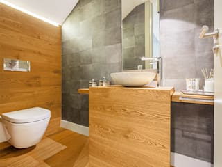 Tarimas de Autor Modern style bathrooms Wood