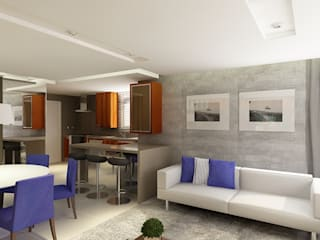 Apartamento (1) em Blumenau - SC - Brasil Salas de estar modernas por Modulo2 Arquitetos Associados. Moderno
