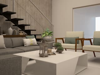 Living room by CONTRASTE INTERIOR, Modern