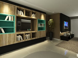 Apartamento (2) em Blumenau - SC - Brasil Salas de estar modernas por Modulo2 Arquitetos Associados. Moderno