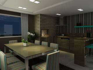 Apartamento (2) em Blumenau - SC - Brasil Varandas, alpendres e terraços modernos por Modulo2 Arquitetos Associados. Moderno