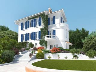 Мастерская ландшафта Дмитрия Бородавкина Mediterranean style house Stone White