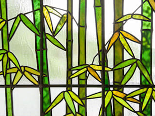 マルグラスデザインスタジオ Windows & doors Window decoration Glass Green