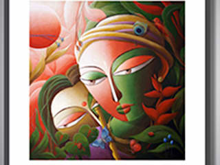 Indian Art Ideas ArtworkPictures & paintings Flax/Linen Green