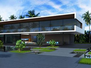 Ocean House Дома в стиле минимализм от ALEXANDER ZHIDKOV ARCHITECT Минимализм