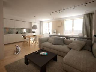 Ruang Keluarga Modern Oleh План_Б Modern