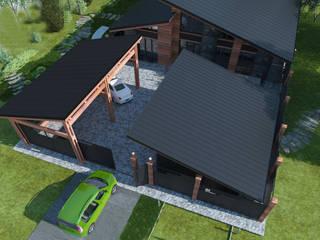 Проект загородного дома: Дома в . Автор – AnARCHI, Минимализм