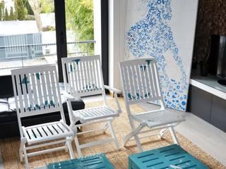 P.WOODS - design, upcycling e decoração de mobiliário:   por Blue Art Factory,Eclético