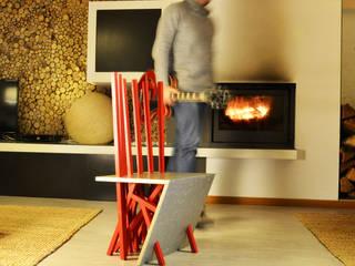 P.WOODS - design, upcycling e decoração de mobiliário:   por Blue Art Factory,Moderno