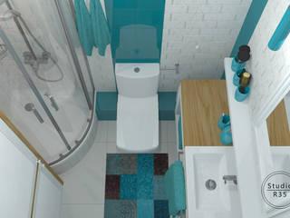 Bielany Skandynawska łazienka od Studio R35 Skandynawski