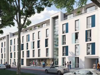 Trei Real Estate - Studenten-Apartmentanlage: moderne Häuser von interior.architects.munich