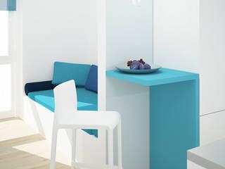 Trei Real Estate - Studenten-Apartmentanlage: moderne Schlafzimmer von interior.architects.munich