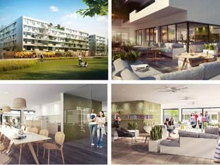 iLive - Wohnkonzepte für Studenten: moderne Häuser von interior.architects.munich