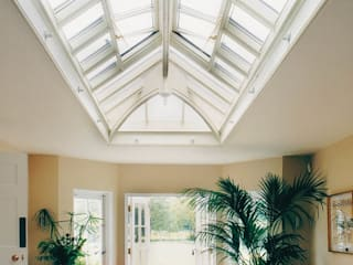 Internal view rectangle roof lantern:  Conservatory by Westbury Garden Rooms