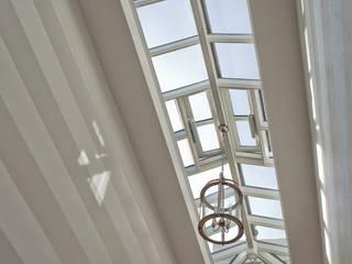 Roof Lantern over stairs Modern corridor, hallway & stairs by Westbury Garden Rooms Modern