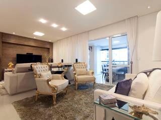 Apartamento Santo André - SP Salas de estar ecléticas por Haus Brasil Arquitetura e Interiores Eclético