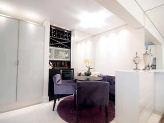 Apartamento Santo André - SP Salas de jantar ecléticas por Haus Brasil Arquitetura e Interiores Eclético