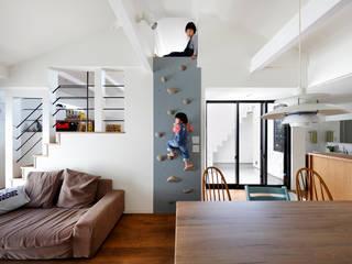 一級建築士事務所アトリエm Living room Wood Wood effect